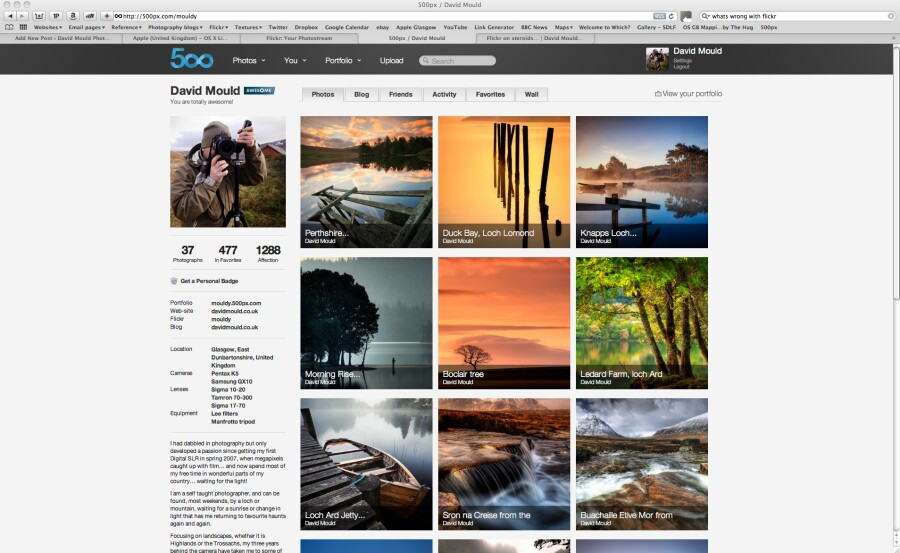 Flickr on steroids… 500px