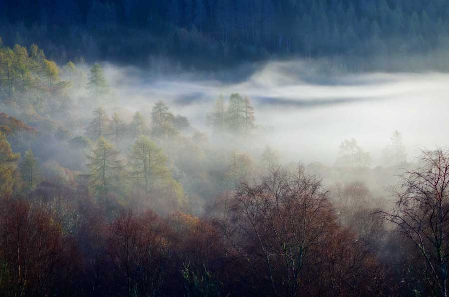 mist over Trossachs